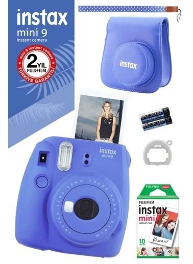 Fujifilm Instax Mini 9 Mavi Fotoğraf Makinesi ve Hediye Seti 3 Mavi